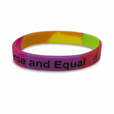 """""""LGBT - Diverse and Equal"""" Wristband"""
