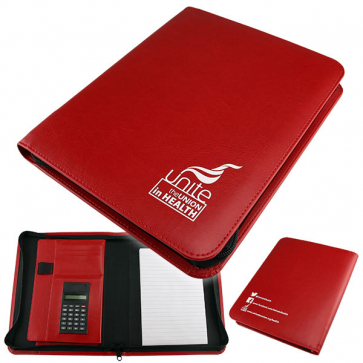 UNITE IN HEALTH - A5 Zipped Diary Cover / Calculator Folder
