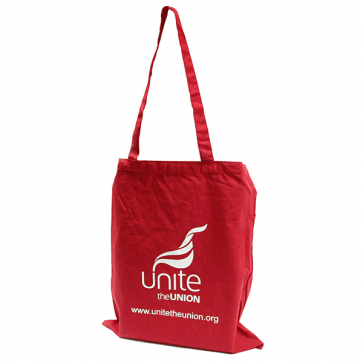 UNITE Red Cotton Shopper
