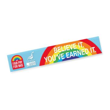 #NHSPAY15 Window Sticker (Personalised)