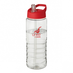 H2O Treble 750ml Spout Lid Sport Bottle (Personalised)