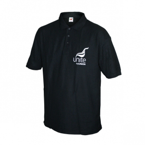 UNITE Black Polo Shirt