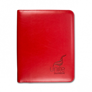 Red A5 Zipped Calculator Folder