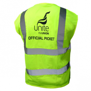 UNITE Official Picket Hi Viz Vest Fluorescent Yellow