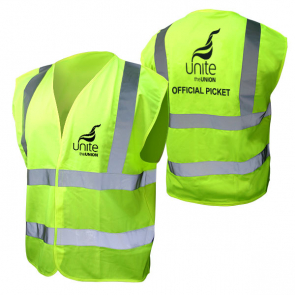UNITE Official Picket Hi Viz Vest