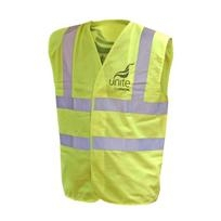 UNITE Yellow Hi Viz Vest Fluorescent Yellow