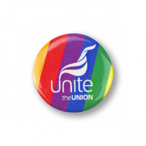 UNITE LGBT 25mm Tin Badge