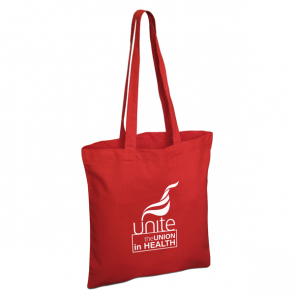 UNITE IN HEALTH Red Cotton Shopper