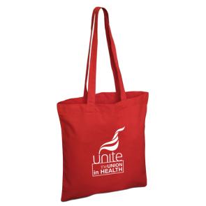 UNITE IN HEALTH Red Cotton Shopper