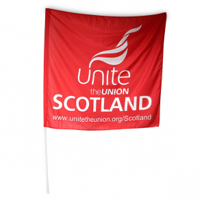 UNITE Scotland Red Large Flag