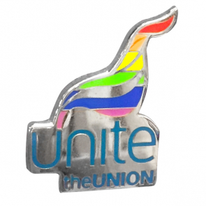 UNITE LGBT Flame Badge
