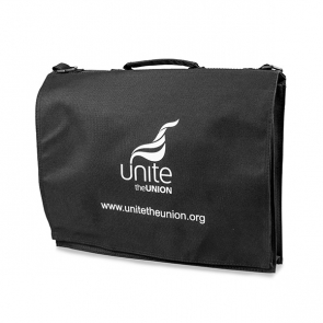 UNITE A4 Black Document Bag