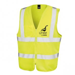 UNITE Unisex Safety Zip Tabard