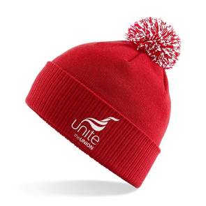 UNITE Red Bobble Hat