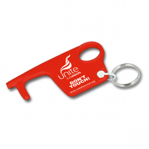 UNITE Red Hygiene Hook Keyring